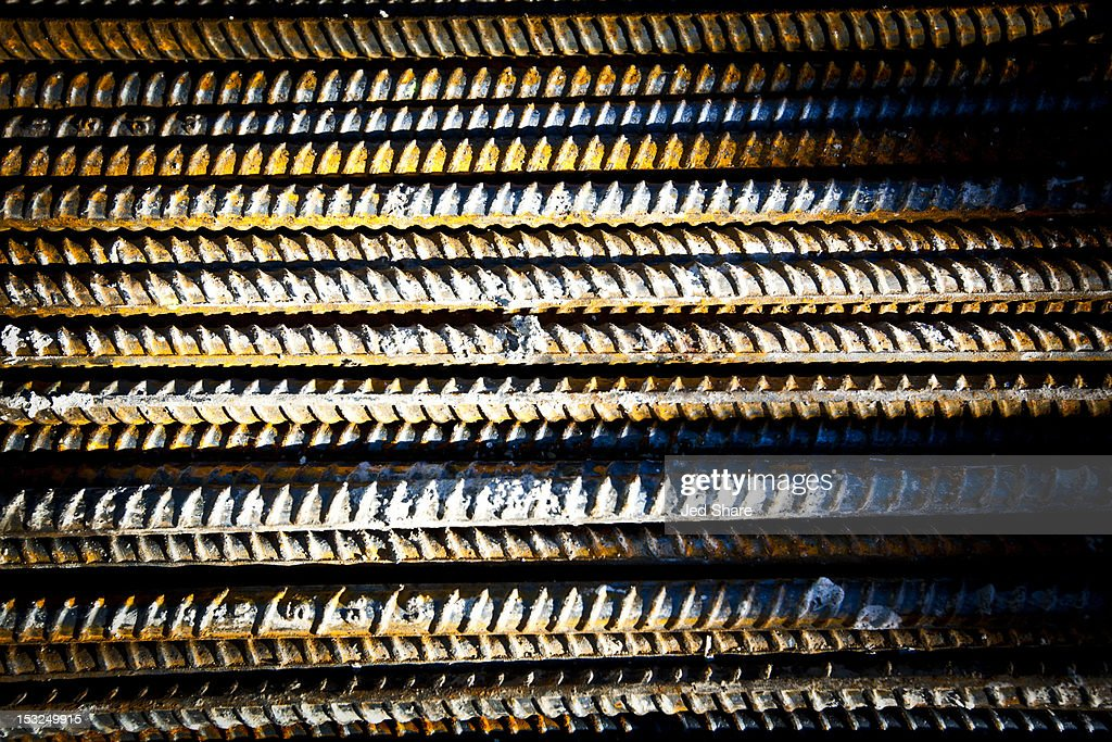 Rebar Steel on a Construction Site : Stock Photo
