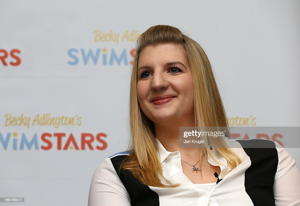 <a gi-track='captionPersonalityLinkClicked' href=/galleries/search?phrase=Rebecca+Adlington&family=editorial&specificpeople=872897 ng-click='$event.stopPropagation()'>Rebecca Adlington</a> answers questions from the media during a press conference as she announces her retirement from swimming, at InterContinental London Westminster Hotel on February 5, 2013 in London, England.