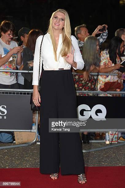 Rebecca Adlington arrives for the GQ Men Of The Year Awards 2016 at Tate Modern on September 6 2016 in London England