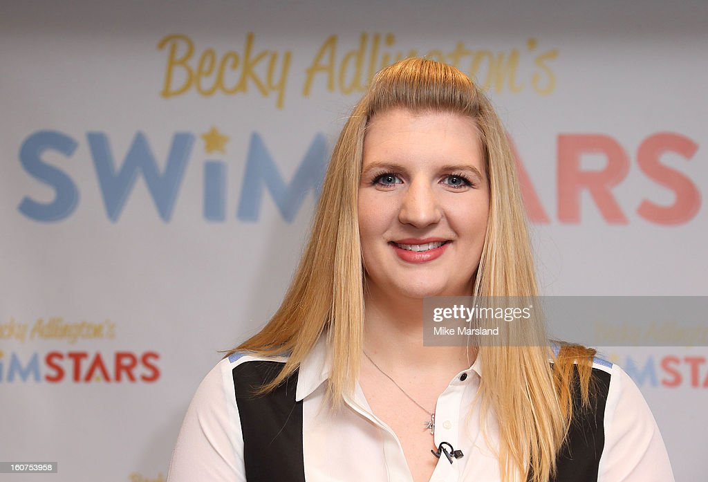 Rebecca Adlington attends a press conference to announce her retirement from competitive swimming and the launch of her charitable foundation to promote fitness in children through swimming at InterContinental Park Lane Hotel on February 5, 2013 in London, England.