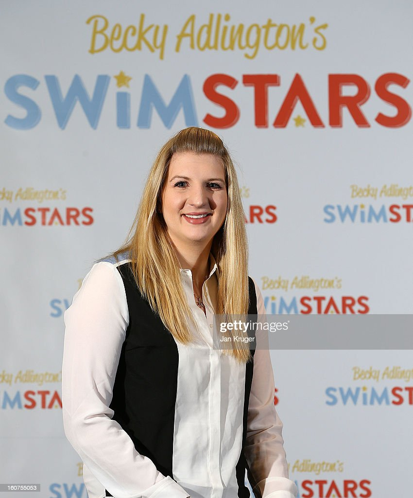<a gi-track='captionPersonalityLinkClicked' href=/galleries/search?phrase=Rebecca+Adlington&family=editorial&specificpeople=872897 ng-click='$event.stopPropagation()'>Rebecca Adlington</a> attends a press conference to announce her retirement from competitive swimming and the launch of her charitable foundation to promote fitness in children through swimming at InterContinental London Westminster Hotel on February 5, 2013 in London, England.