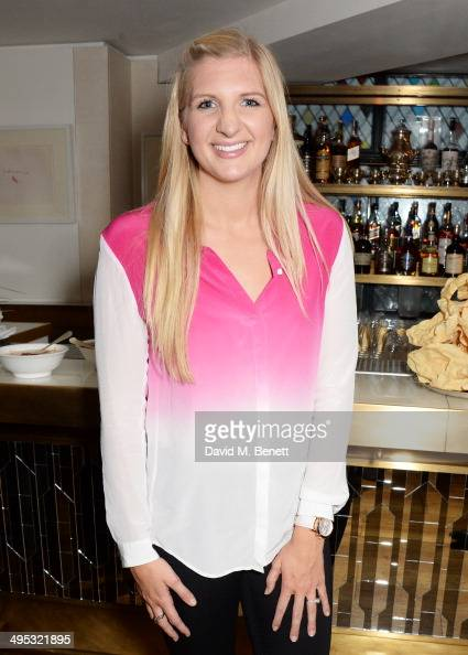 Rebecca Adlington attends an Olympian Sports Quiz night hosted by Colin Jackson in aid of his new charity venture 'Go Dad Run' for Prostate Cancer UK...