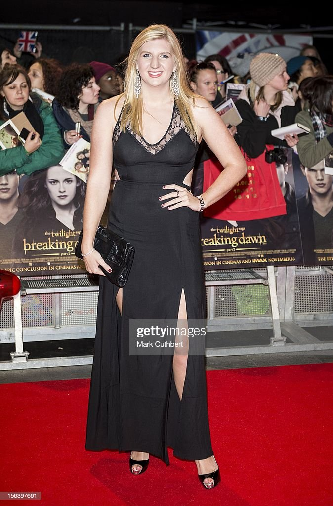 Rebecca Adlington attends the UK Premiere of 'The Twilight Saga: Breaking Dawn - Part 2' at Odeon Leicester Square on November 14, 2012 in London, England.