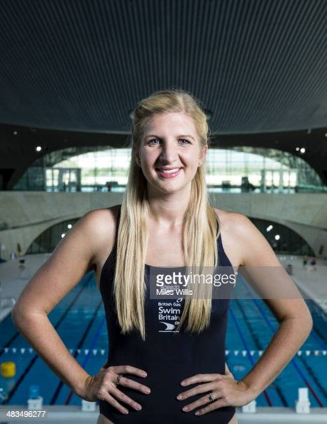 Rebecca Adlington poses for a picture at the top of the 10m diving platform during the launch of the British Gas SwimBritain event at the London...