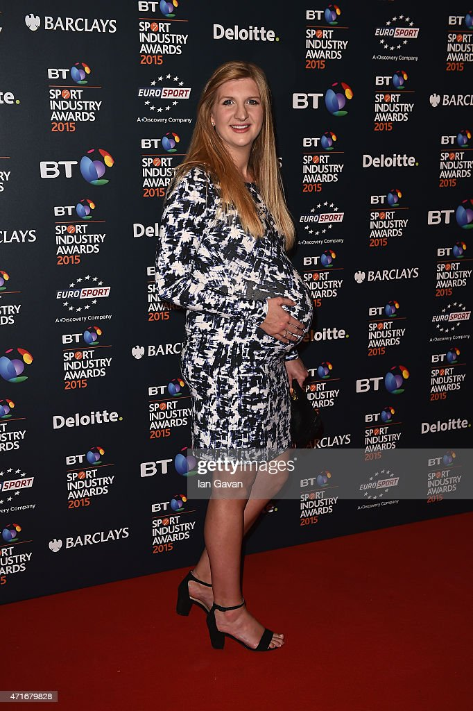 <a gi-track='captionPersonalityLinkClicked' href=/galleries/search?phrase=Rebecca+Adlington&family=editorial&specificpeople=872897 ng-click='$event.stopPropagation()'>Rebecca Adlington</a> poses on the red carpet at the BT Sport Industry Awards 2015 at Battersea Evolution on April 30, 2015 in London, England. The BT Sport Industry Awards is the most prestigious commercial sports awards ceremony in Europe, where over 1750 of the industry's key decision-makers mix with high profile sporting celebrities for the most important networking occasion in the sport business calendar.