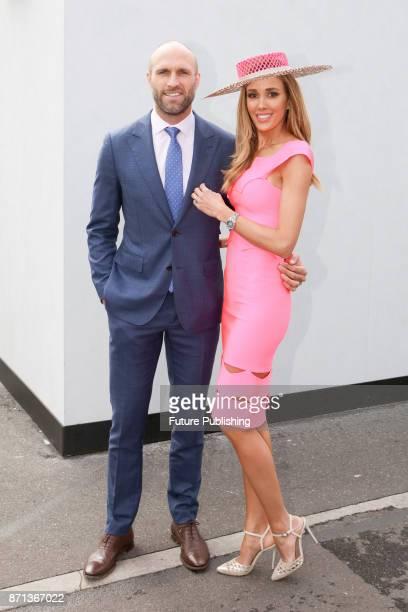 Rebecca and Chris Judd pose at the Melbourne Cup Carnival on November 7 2017 in Melbourne Australia Chris Putnam / Barcroft Images