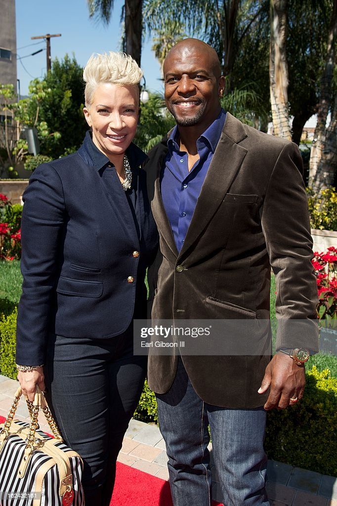Rebecca and <a gi-track='captionPersonalityLinkClicked' href=/galleries/search?phrase=Terry+Crews&family=editorial&specificpeople=569932 ng-click='$event.stopPropagation()'>Terry Crews</a> attend the 2nd Annual 'Gospel Goes to Hollywood at Taglyan Cultural Complex on February 22, 2013 in Hollywood, California.