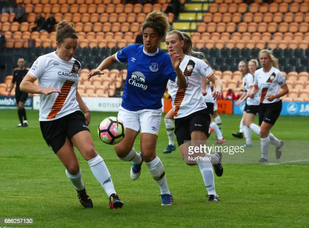 Rebecca Anderson of London Bees during Women's Super League 2 Spring Series match between London Bees against Everton Ladies at The Hive Barnet FC on...