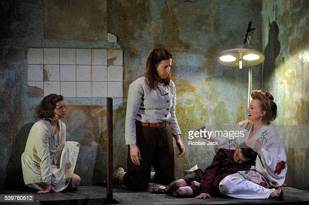 Rebecca Benson as the girl Catherine Walsh as Beatriz Zac McCullough as the boy and Meg Fraser as Madam in the National Theatre of Scotland's...