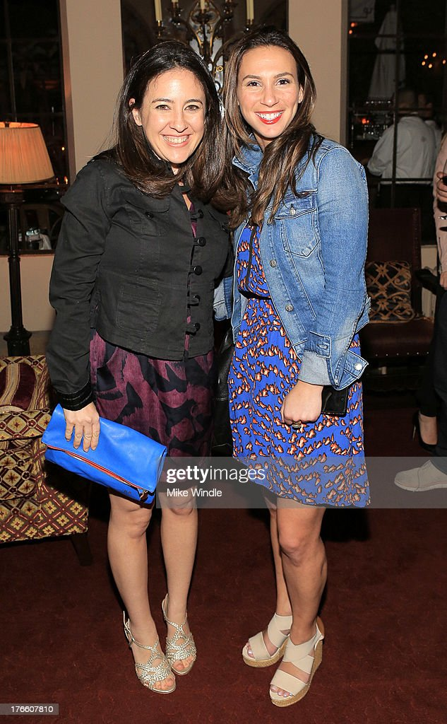 Rebecca Bienstock and Rachel Teitelbaum attend the SUPERDRY intimate dinner in celebration of the brand's Autumn/Winter 2013 Collection at Chateau Marmont on August 15, 2013 in Los Angeles, California.