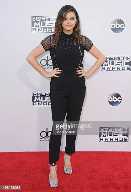 Rebecca Black arrives at the 2015 American Music Awards at Microsoft Theater on November 22 2015 in Los Angeles California