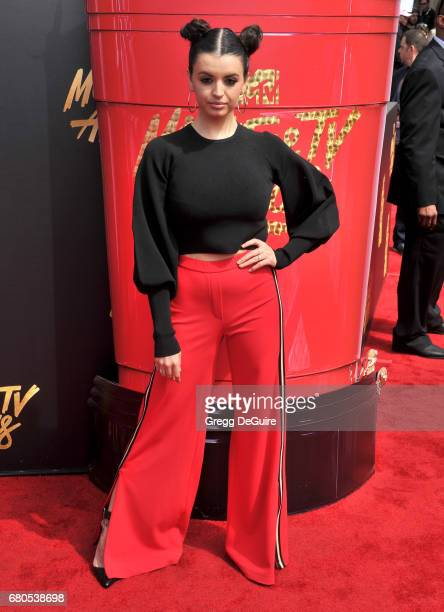 Rebecca Black arrives at the 2017 MTV Movie And TV Awards at The Shrine Auditorium on May 7 2017 in Los Angeles California