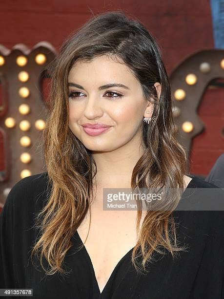 Rebecca Black arrives at the world premiere of 'Goosebumps' held at Regency Village Theatre on October 4 2015 in Westwood California