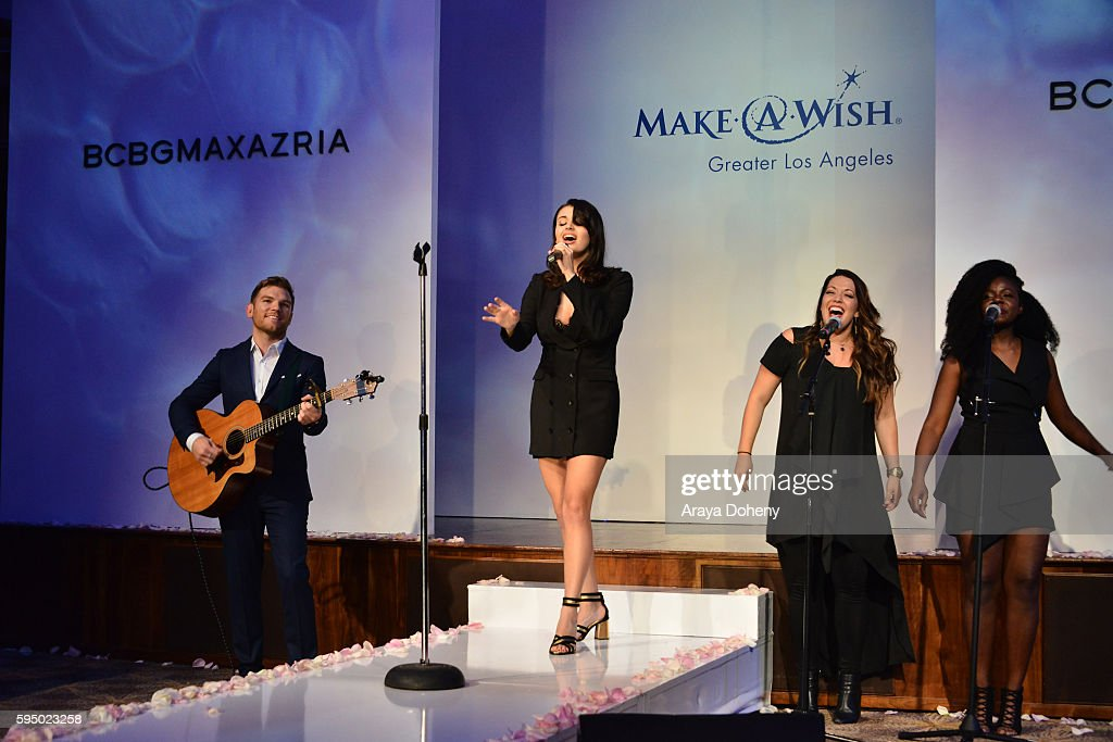 Rebecca Black performs during the Inaugural Fashion Show Benefiting MakeAWish with BCBGMAXAZRIA and Celebrity Host Brad Goreski at The Taglyan...