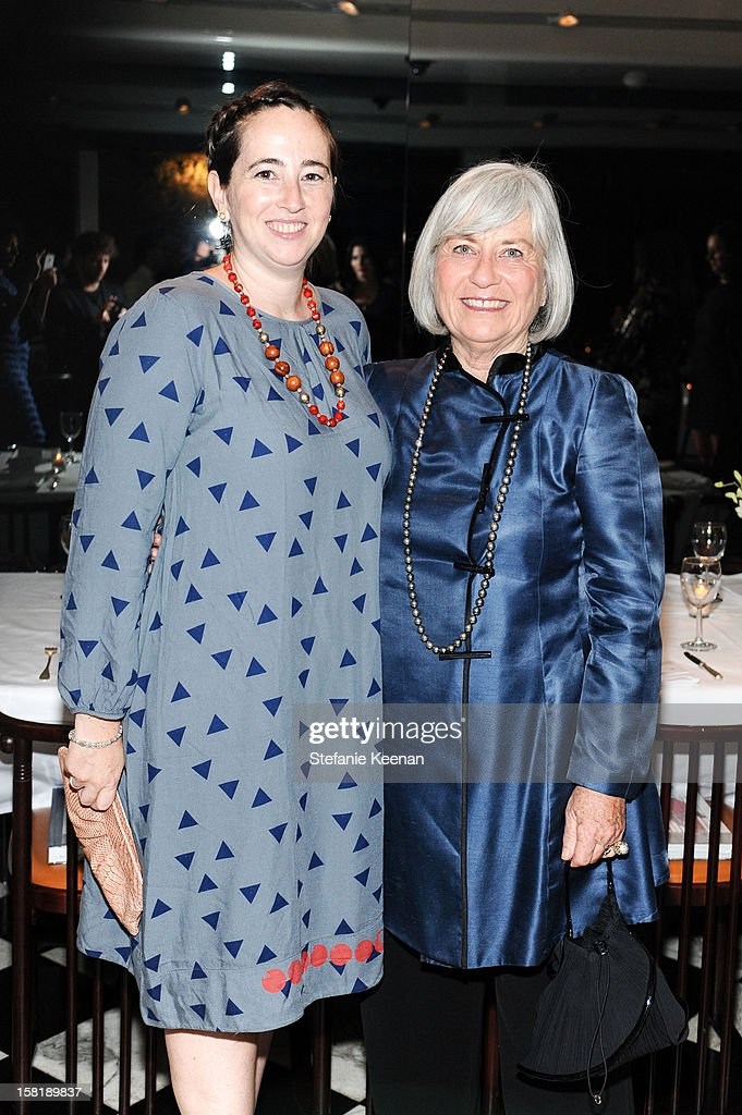 <a gi-track='captionPersonalityLinkClicked' href=/galleries/search?phrase=Rebecca+Bloom+-+Author&family=editorial&specificpeople=691337 ng-click='$event.stopPropagation()'>Rebecca Bloom</a> and Ruth Bloom attend LAXART Vision dinner At Mr. Chow sponsored by Jay Carlile and Guess at Mr. Chow on December 10, 2012 in Los Angeles, California.