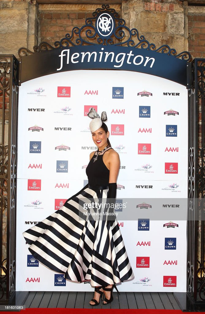 Rebecca Bramich during the Melbourne Cup Carnival Spring Fashion Moment at The Mint Cafe on September 23, 2013 in Sydney, Australia.