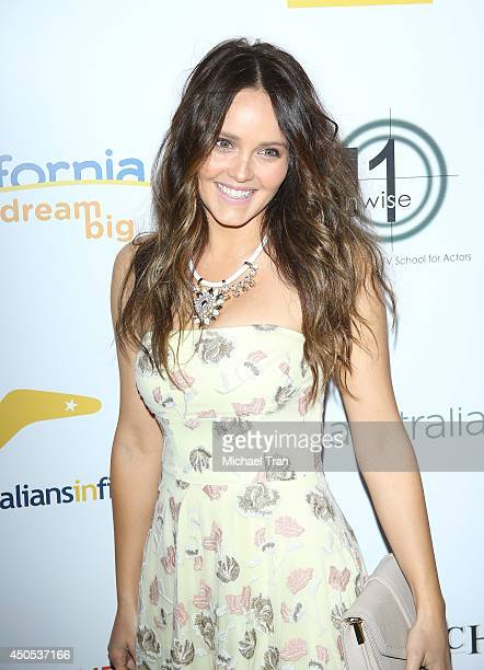 Rebecca Breeds arrives at Australians In Film's 6th Annual Heath Ledger Scholarship dinner held at SLS Hotel at Beverly Hills on June 12 2014 in Los...