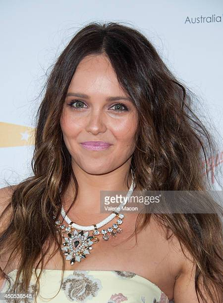 Rebecca Breeds arrives at the Australians In Film's Heath Ledger Scholarship Dinner at SLS Hotel on June 12 2014 in Beverly Hills California