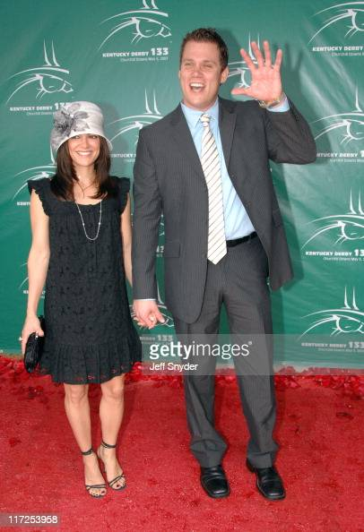 Rebecca Budig and Bob Guiney during 133rd Kentucky Derby Arrivals at Churchill Downs in Louisville Kentucky United States