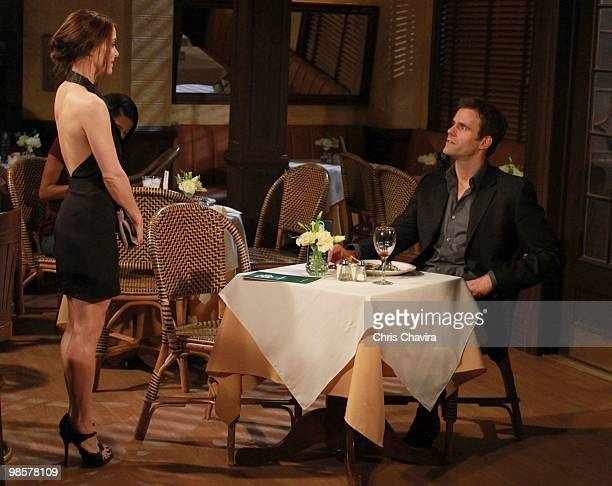 CHILDREN Rebecca Budig and Cameron Mathison in a scene that airs the week of April 26 2010 on ABC Daytime's 'All My Children' 'All My Children' airs...