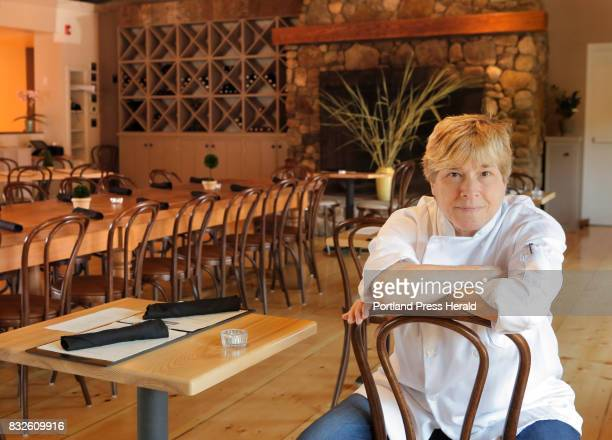 Rebecca Charles poses for a portrait in the dining room of her Kennebunk restaurant Pearl on Thursday August 10 2017 Charles was a New York chef with...