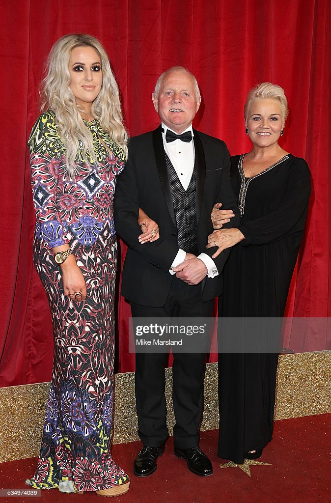 Rebecca Chittell, Chris Chittell and Lesley Dunlop attend the British Soap Awards 2016 at Hackney Empire on May 28, 2016 in London, England.