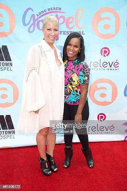 Rebecca Crews and Myesha Chaney attend the Long Beach Gospel Fest 2015 at Marina Green Park on July 19 2015 in Long Beach California