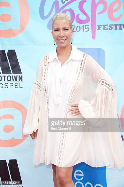 Rebecca Crews attends the Long Beach Gospel Fest 2015 at Marina Green Park on July 19 2015 in Long Beach California