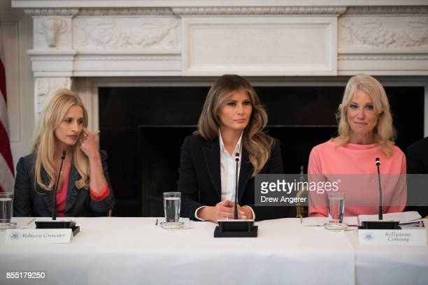 Rebecca Crowder executive director of Lily's Place in West Virginia First Lady Melania Trump and Counselor to the President Kellyanne Conway attend a...