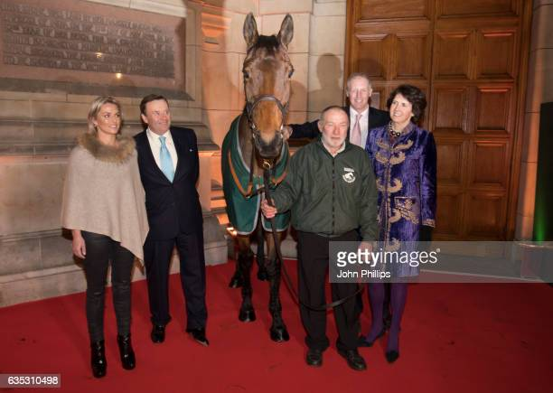 Rebecca Curtis Nicky Henderson David Pipe and Venetia Williams attend The Randox Health Grand National Weights Evening with 2016 winner Rule The...