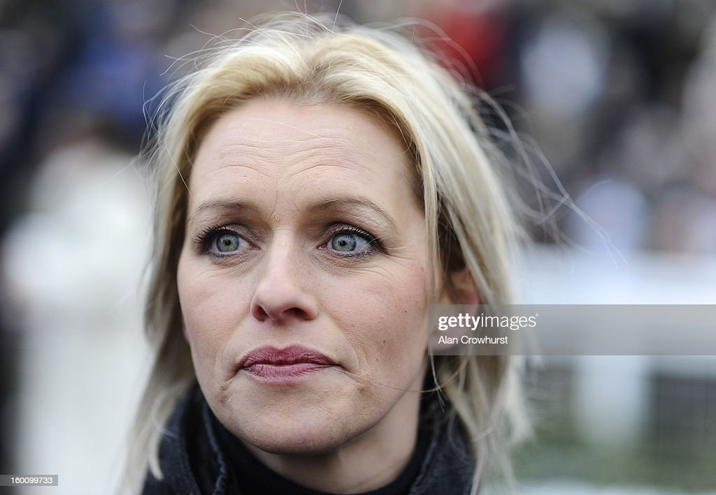 Rebecca Curtis poses at Cheltenham racecourse on January 26, 2013 in Cheltenham, England.