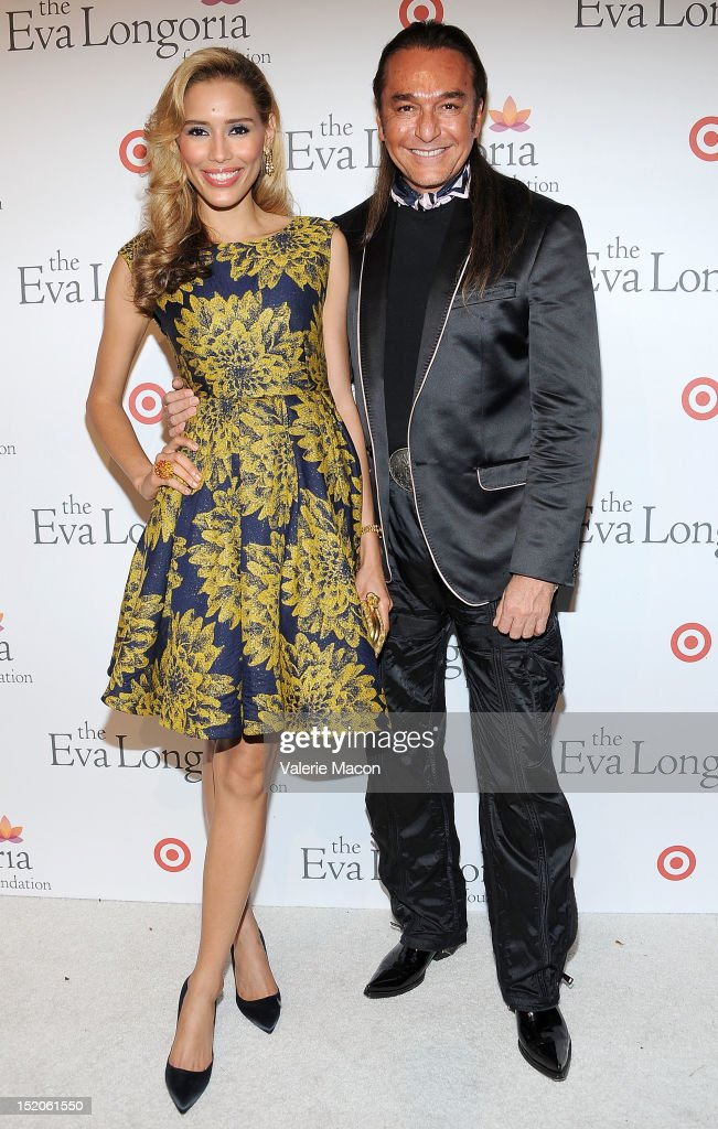 Rebecca Da Costa and Nick Chavez arrive at The Eva Longoria Foundation's Pre-ALMA Awards Dinner Presented By Target on September 15, 2012 in Los Angeles, California.