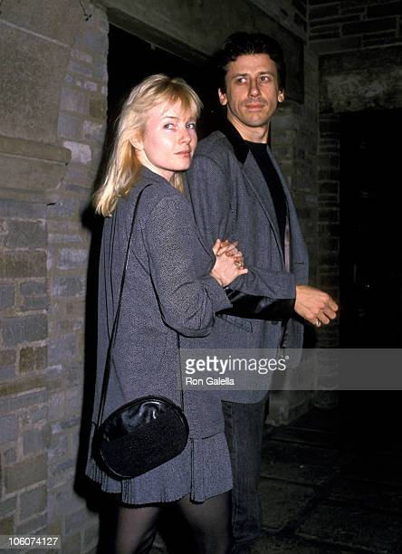 Rebecca De Mornay and Richard Cox during Performance of 'Hurlyburly' at Westwood Playhouse in Westwood California United States
