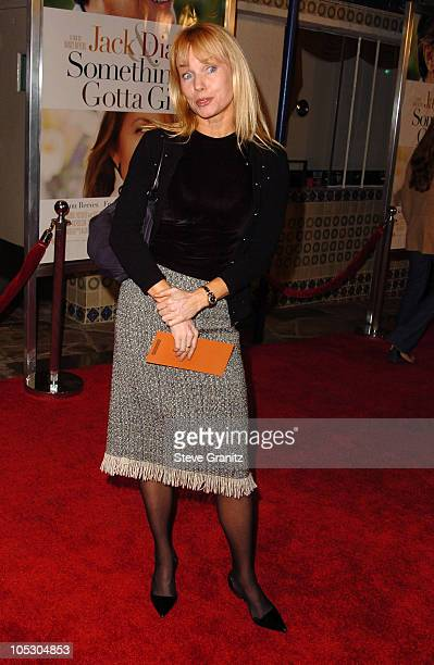 Rebecca De Mornay during 'Something's Gotta Give' Los Angeles Premiere at Mann Village Theater in Westwood California United States