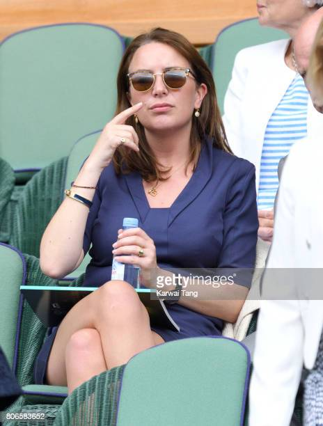 Rebecca Deacon attends day one of the Wimbledon Tennis Championships at the All England Lawn Tennis and Croquet Club on July 3 2017 in London United...