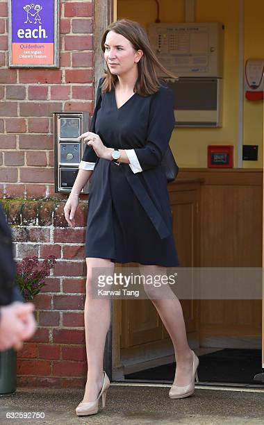 Rebecca Deacon during a visit of Catherine Duchess of Cambridge to EACH to get an update on The Nook Appeal at EACH on January 24 2017 in Quidenham...