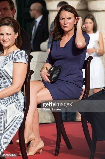 Rebecca Deacon watches the In Guardia Pageant during an official visit to Malta by Prince William Duke of Cambridge on September 20 2014 in Valletta...