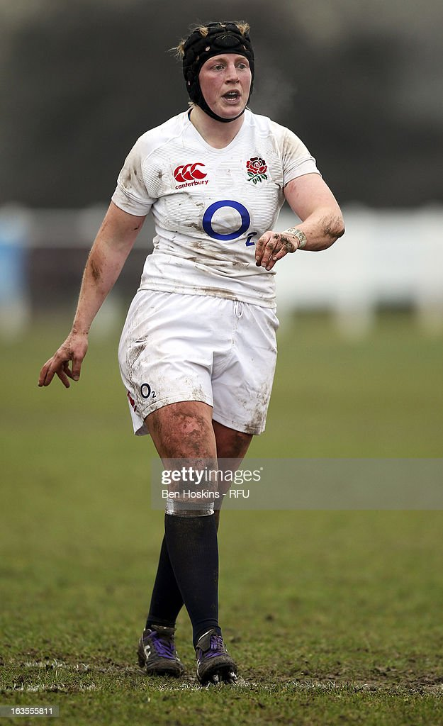 Rebecca Essex of England in action during the Women's RBS Six Nations match between England and Italy at Esher Rugby Club on March 09, 2013 in Esher, England.