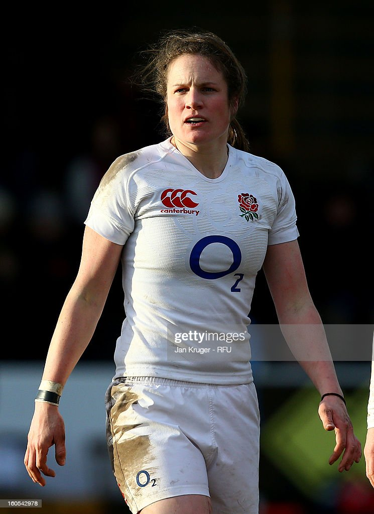 Rebecca Essex of England Women in action during the Womens Six Nations match between England and Scotland at Esher RFC on February 2, 2013 in Esher, England.