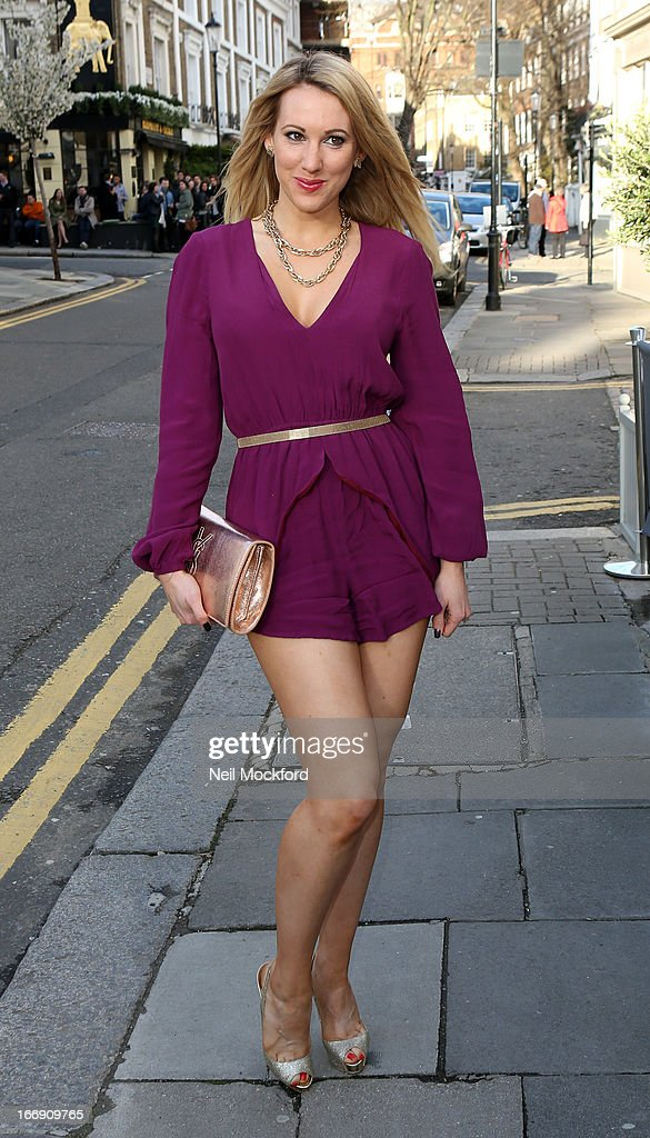 Rebecca Ferdinando seen arriving at the Tatiana's Hair Extensions - Annual Anniversary Party on April 18, 2013 in London, England.