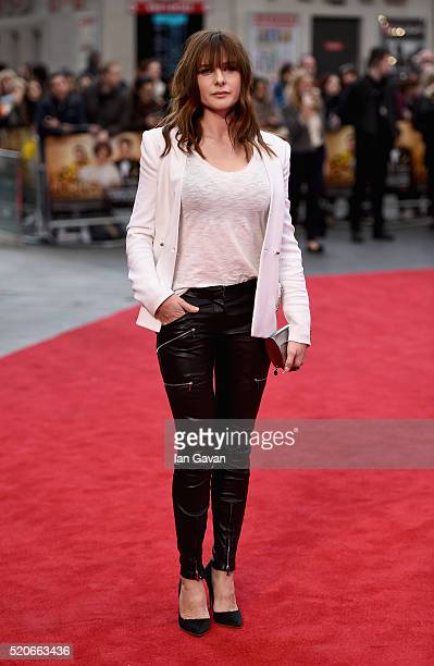 Rebecca Ferguson arrives for the UK film premiere of 'Florence Foster Jenkins' at Odeon Leicester Square on April 12 2016 in London England