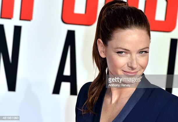 Rebecca Ferguson attends an exclusive screening of 'Mission Impossible Rogue Nation' at BFI IMAX on July 25 2015 in London England