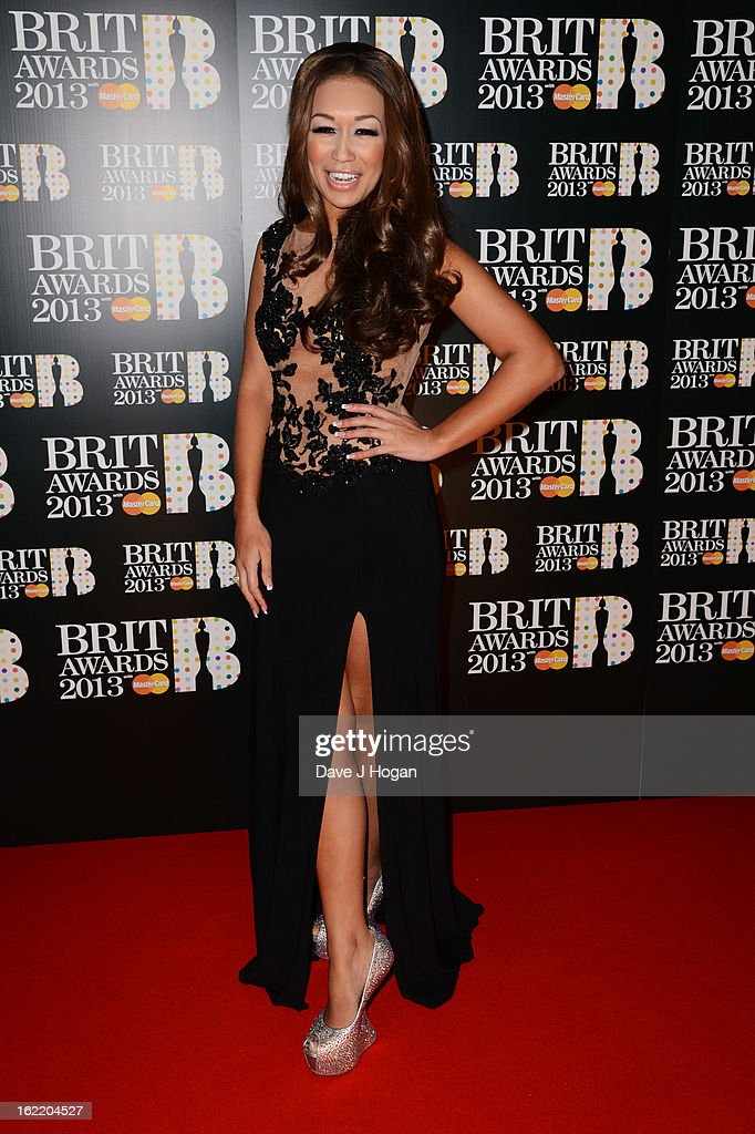 Rebecca Ferguson attends The Brit Awards 2013 at The O2 Arena on February 20, 2013 in London, England.