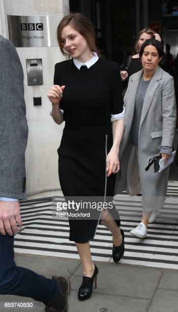 Rebecca Ferguson seen at BBC 2 Radio Studios on March 16 2017 in London England