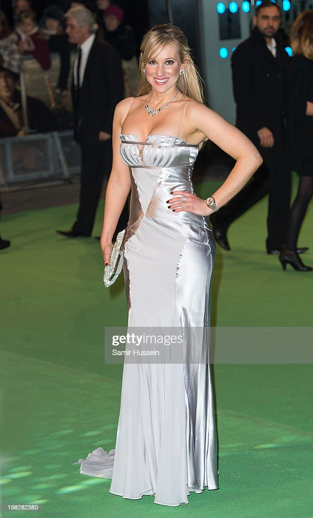 Rebecca Fernando attends a royal film performance of 'The Hobbit: An Unexpected Journey' at The Empire Leicester Square on December 12, 2012 in London, England.
