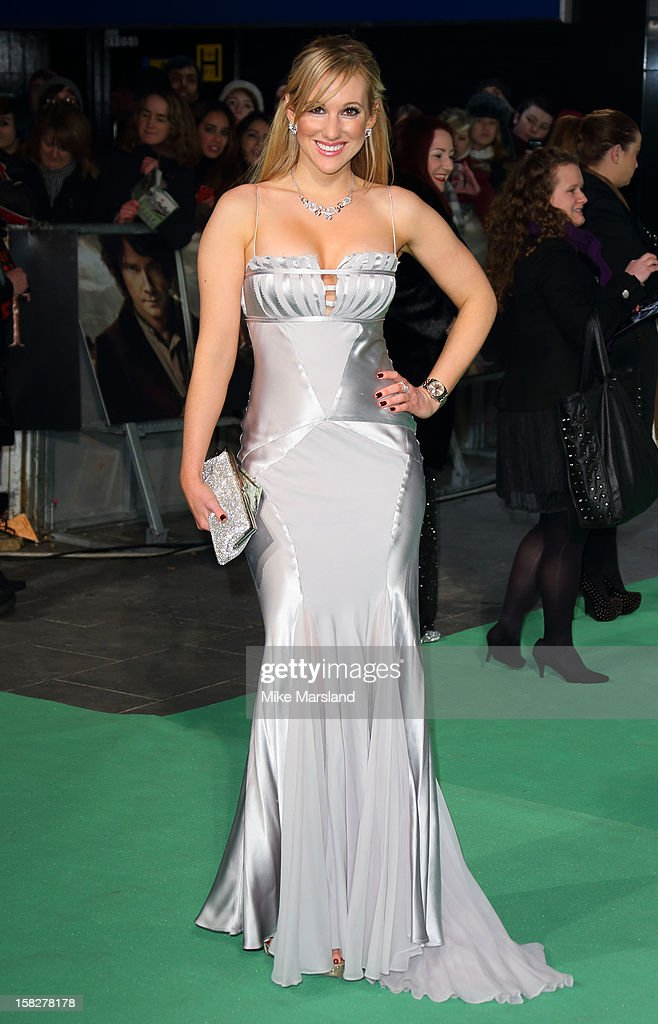 Rebecca Fernando attends the Royal Film Performance of 'The Hobbit: An Unexpected Journey' at Odeon Leicester Square on December 12, 2012 in London, England.