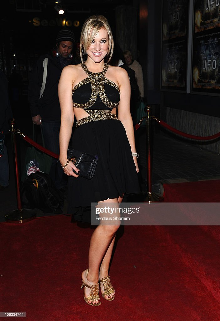 Rebecca Fernando attends the UK Premiere of 'UFO' on December 13, 2012 in London, England.