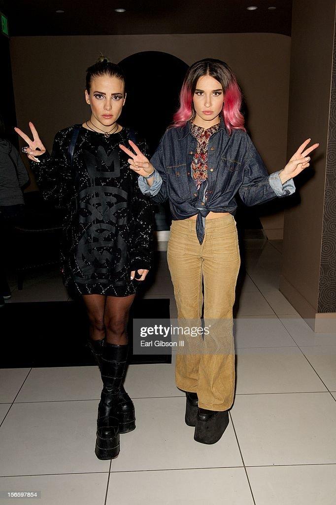 Rebecca & Fiona (Fiona Fitzpatrick) and Rebecca Scheja attend the 40th Music Awards Celebrates Electronic Dance Music at Nokia Theatre L.A. Live on November 16, 2012 in Los Angeles, California.