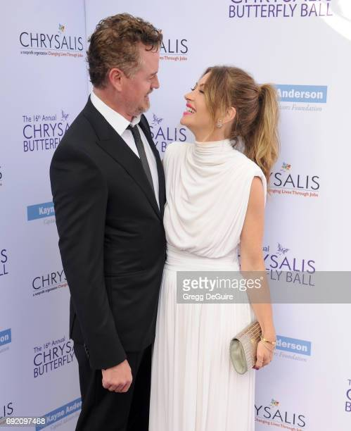Rebecca Gayheart and Eric Dane arrive at the 16th Annual Chrysalis Butterfly Ball at a private residence on June 3 2017 in Brentwood California