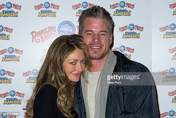 Rebecca Gayheart and Eric Dane attend the Ringling Bros and Barnum Bailey 'Build To Amaze' Opening Night at Barclays Center on March 21 2013 in the...
